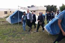 معسكرات لإقامة أهالى مصابى مسجد الروضة بمستشفى الجامعة