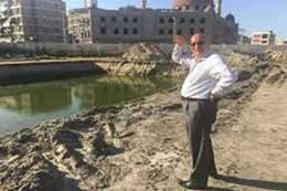 حلبية يباشر أعمال الإنشاءات الجارية بأرض نادى غزل بورسعيد