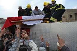 محافظ الغربية ومدير الأمن يؤديان صلاة الجنازة على الشهيد المجند محمد جويدى