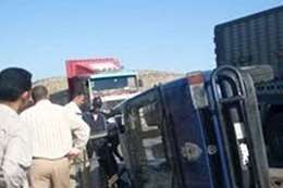 تصادم سيارة شرطة بالمنيا