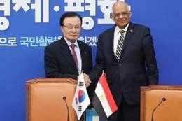 عبدالعال ورئيس وزراء كوريا الجنوبية