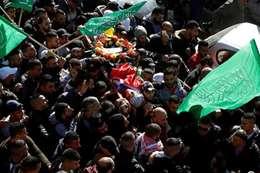 تشييع جثمان فلسطيني استشهد برصاص الاحتلال