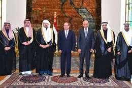السيسي والوفد السعودي