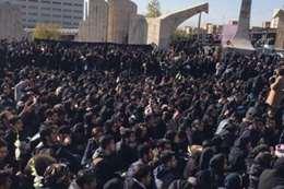 دهس طلاب بجامعة طهران