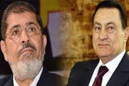 مرسي و مبارك-ارشيفية
