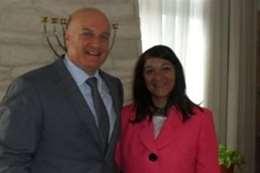 البرنس مع السفير الاسرائيليى