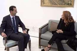 بشار الأسد ومونيكا ماجوني