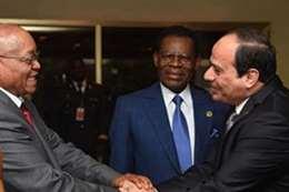الرئيس السيسي ونظيره الجنوب افريقي