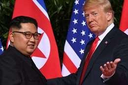 الرئيس الامريكي والرئيس الكوري