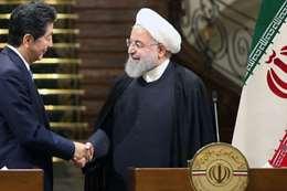 رئيس وزراء اليابان و الرئيس الإيراني