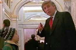 ترامب في مشهد من الفيلم