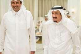 أمير قطر والملك سلمان