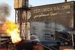 حريق مصنع السيراميك بالسودان
