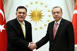الرئيس التركي ورئيس المجلس الرئاسي الليبي
