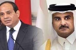 الرئيس السيسي وامير قطر