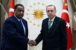 أردوغان وإبراهيم غندور