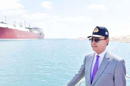 الفريق مهاب مميش رئيس هيئة قناة السويس ورئيس المنطقة الاقتصادية لقناة السويس