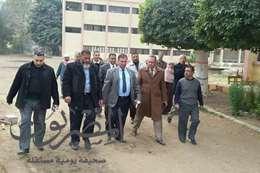 جولة وكيل وزارة التربية والتعليم التفقدية لمدرسة الزراعة الثانوية