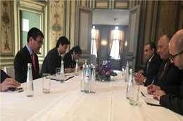 وزير الخارجية ونظيره الياباني