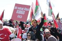 مظاهرة بإسطنبول نصرة للمسجد الأقصى