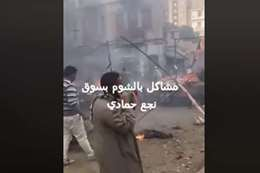 حريق هائل في سوق نجع حمادي بعد مشاجرات بالمولوتوف