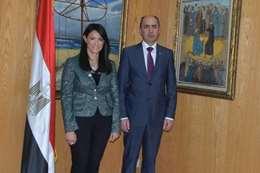 وزيرةالسياحة والسفير الاوكراني
