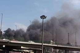 حريق قطار بمحطة مصر