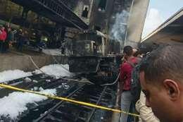 قطار حريق مصر