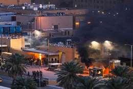 هجوم صاروخي علي  السفارة الأمريكية في بغداد