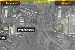أقمار صناعية إسرائيلية تكشف حجم الدمار لموقع فيلق القدس الإيراني