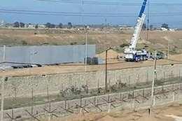 مصر تبني جدارًا خرسانيًا على حدود قطاع غزة