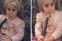 طفلة الشيشة السعودية