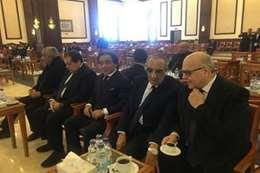 أحمد عز وهشام طلعت في تشييع جنازة مبارك