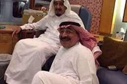 الأمير طلال مع الملك سلمان