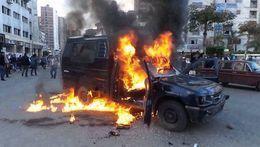 براءة متهم بحرق سيارة شرطة بحلوان