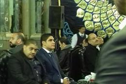 """"""" أبو هشيمة"""" في عزاء والد خالد سليم"""