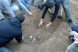 نبش قبر ميت فى بنى سويف 20/3/2017