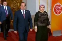 الرئيس عبدالفتاح السيسي وزوجته