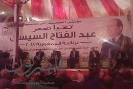 """""""كلنا معاك من أجل مصر""""تنظم مؤتمر لدعم السيسى بالمحلة ..وهتافات """"تحيا مصر"""""""