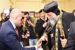 البابا تواضروس يدلي بصوته في الانتخابات