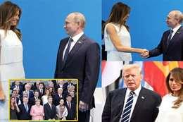 بوتين  وميلانيا ترامب