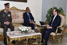 لقاء السيسى ووزير دفاع تنزانيا
