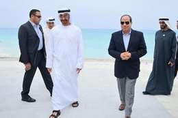 الرئيس السيسي وولي عهد أبو ظبي محمد بن زايد