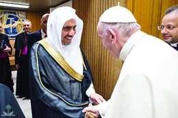 العيسى وبابا الفاتيكان