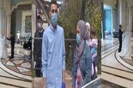 حفل زفاف بالحجر الصحي.. وبكاء الأم بعد فراق 5 سنوات