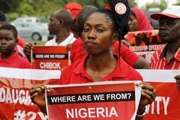 صورة من حملة ضد اختطاف لبوكو حرام للفتيات