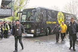 الهجوم على حافلة فريق بروسيا دورتموند