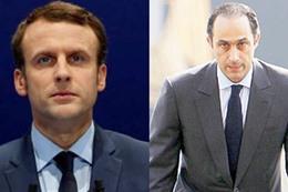 جمال مبارك والمرشح الفرنسي مانويل ماكرون