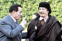 مبارك والقذافى
