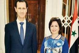 إلهام شاهين وبشار الأسد